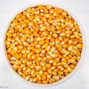 Popcorn-Mais und Öl